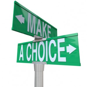 Make A Choice Between 2 Alternatives - Two-Way Street Sign